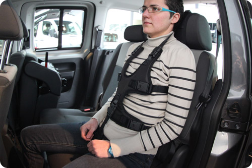 d couvrez le nouveau harnais de maintien pour voiture avec boucles verrouillables. Black Bedroom Furniture Sets. Home Design Ideas