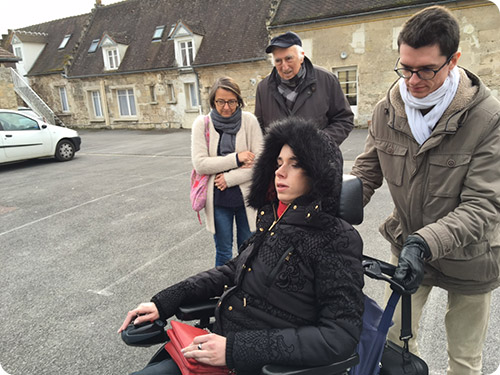 Rencontre avec Jean Vanier pour une partie de l'équipe