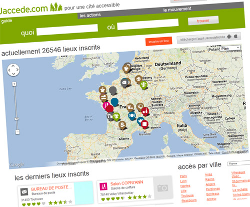 Jaccede.com, guide collaboratif des adresses accessibles