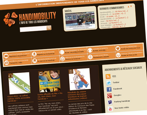 Découvrez le blog Handimobility