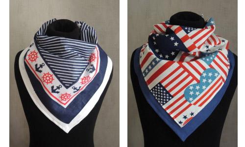 Quelques exemples de foulards Handitrouvailles