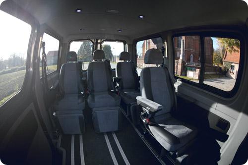 Les sièges arrière pullman offrent un confort exceptionnel à vos passagers