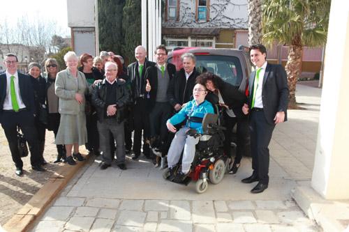 Inauguration du Peugeot Partner de Sofiane