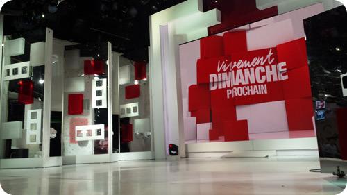 La découverte du plateau de télévision utilisé pour l'émission de Michel Drucker