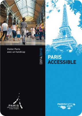 Le guide Paris Accessible 2015 est téléchargeable en ligne ou disponible en bureau d'accueil.