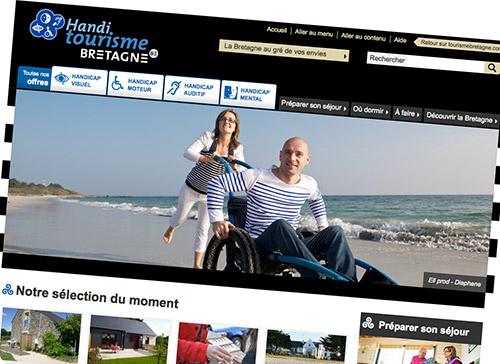 Découvrez le site Internet Handitourisme Bretagne