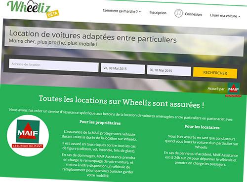 Rendez-vous sur le site de Wheeliz !