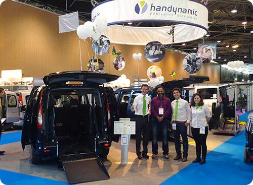 L'équipe Handynamic sur le salon Handica Lyon