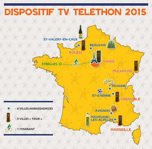 En plus des 20 000 animations prévues partout en France, 6 villes se sont portées volontaires pour être ambassadrices de cete nouvelle édition du Téléthon