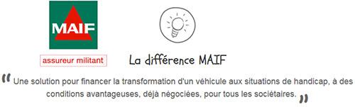 La MAIF propose des financements pour voitures accessibles