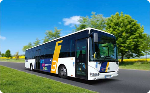 Un bus du réseau Arc-en-ciel