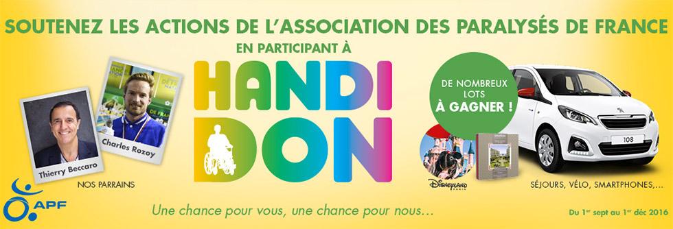 Jouez, Gagnez Et Donnez Avec La 3ème édition D'Handidon
