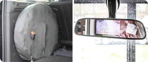 Support de roue de secours et caméra de recul, des options qui rassurent
