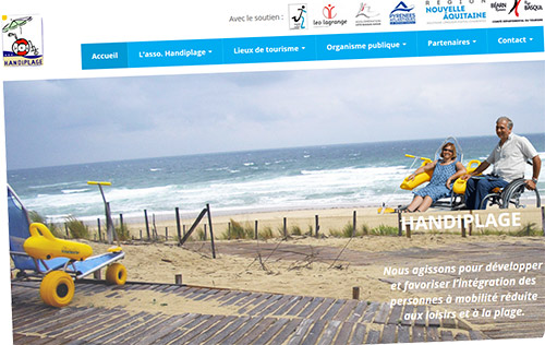 Le nouveau site de l'association Handiplage