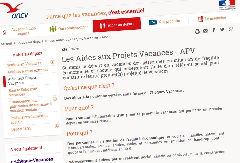 L'ANCV Oeuvre Aux Vacances Des Plus Fragiles…