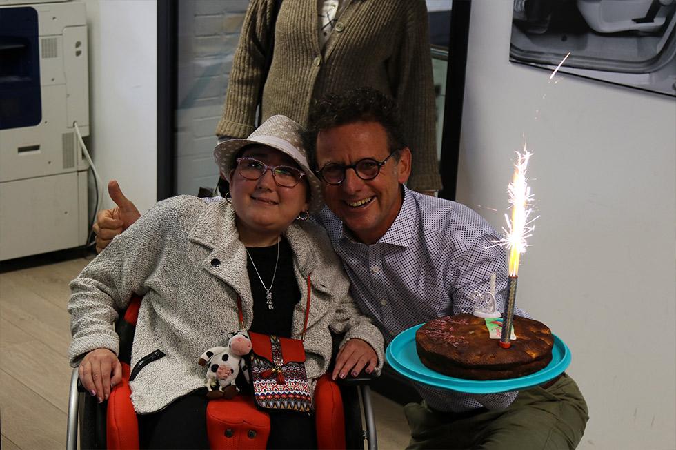 Marjorie, l'handy baroudeuse, fête son anniversaire à Handynamic