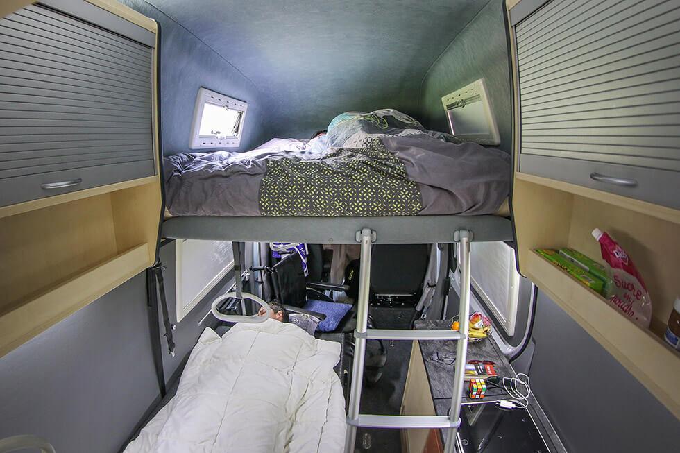 Quand la nuit tombe, chacun trouve sa place dans un lit douillet...