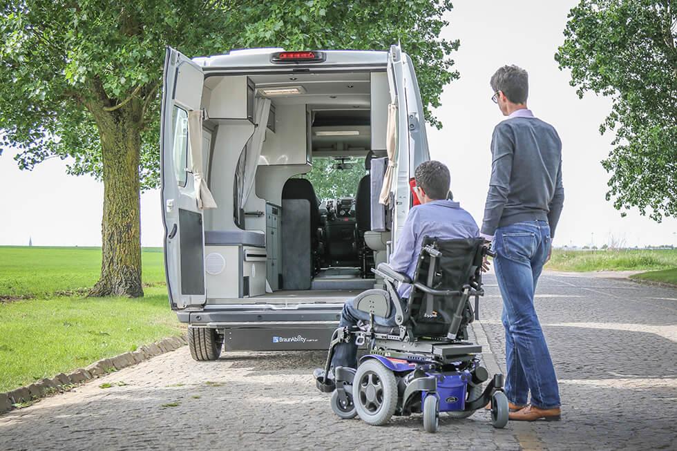 Louez un camping-car vraiment accessible en fauteuil roulant
