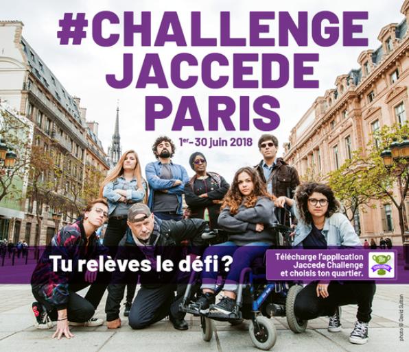 Inscrivez-vous au Challenge Jaccede Paris pour améliorer le quotidien des personnes en fauteuil roulant !