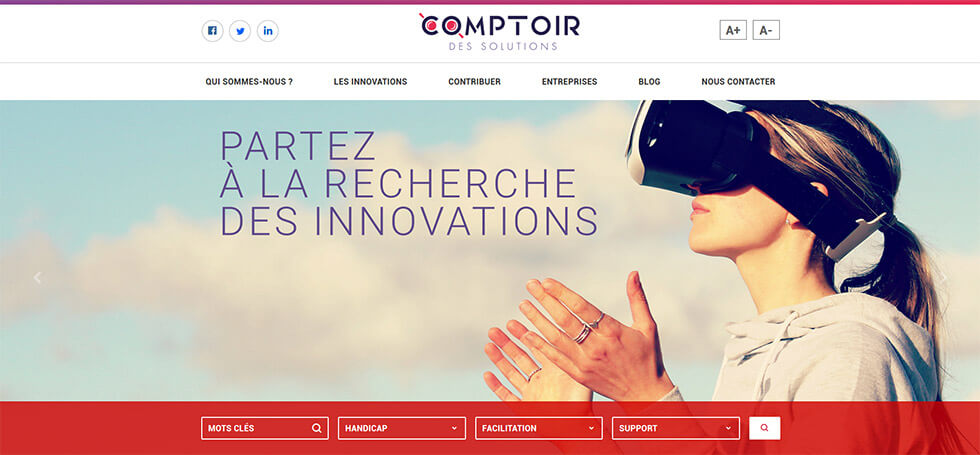 Le Comptoir Des Solutions Répertorie Les Innovations Liées Au Domaine Du Handicap