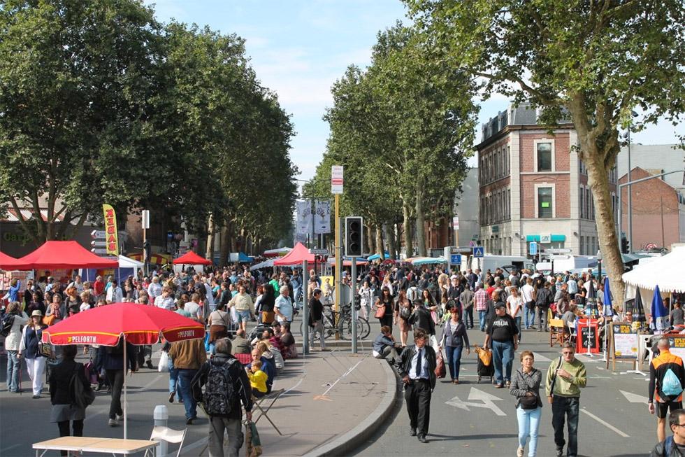 Les rues sont toujours un peu saturées pendant la Braderie de Lille