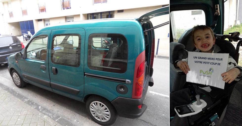 Grâce à ce don de véhicule accessible, Yanis peut partir en balade !