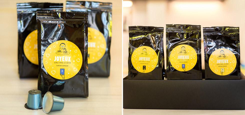 Joyeux a également créé sa propre marque de café