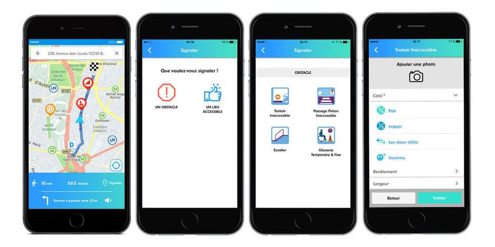 L'application StreetCo permet de créer des itinéraires accessibles