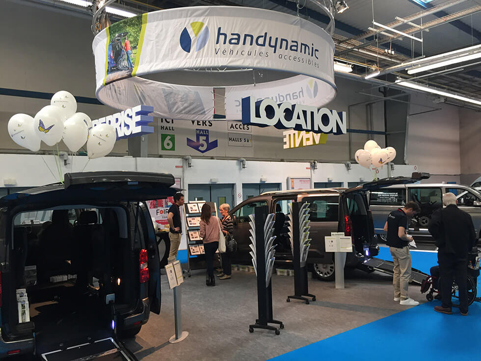 Le stand Handynamic présentait deux véhicules au salon Autonomic Toulouse...