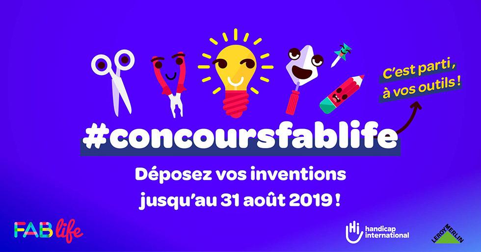 Concours Fab Life 2019, à Vos Inventions Pour Faciliter Le Quotidien Des Personnes Handicapées