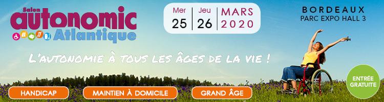 Rendez-vous au salon Autonomic Atlantique à Bordeaux fin mars 2020