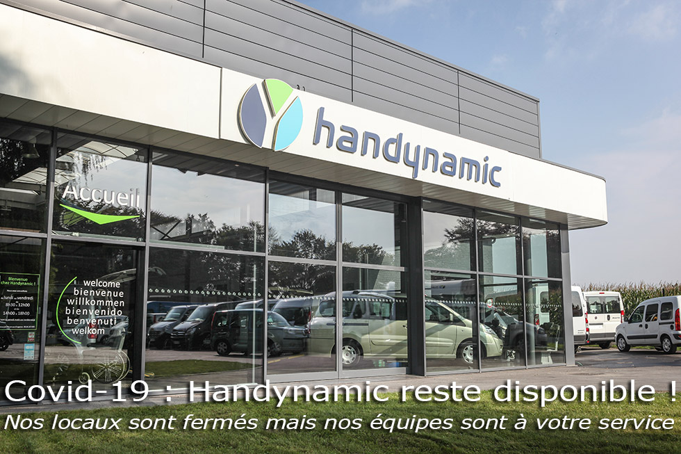Handynamic reste disponible pendant le confinement lié au coronavirus