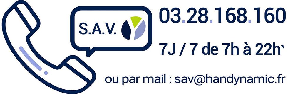 Contactez le SAV Handynamic facilement par téléphone ou par mail