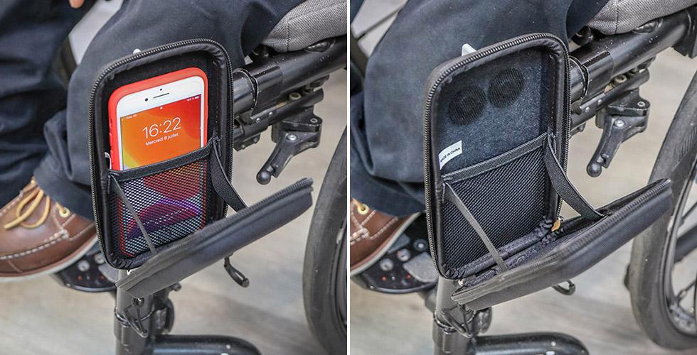 Le teléphone est bien maintenu à l'intérieur de la pochette Quokka