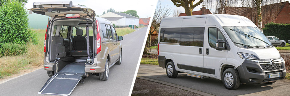Nous avons un stock régulier de véhicules accessibles neufs prêts à partir
