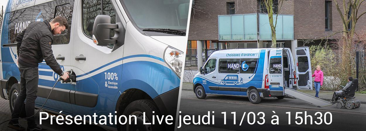Handynamic Vous Présente Son Renault Master Z.E. TPMR  En Live !