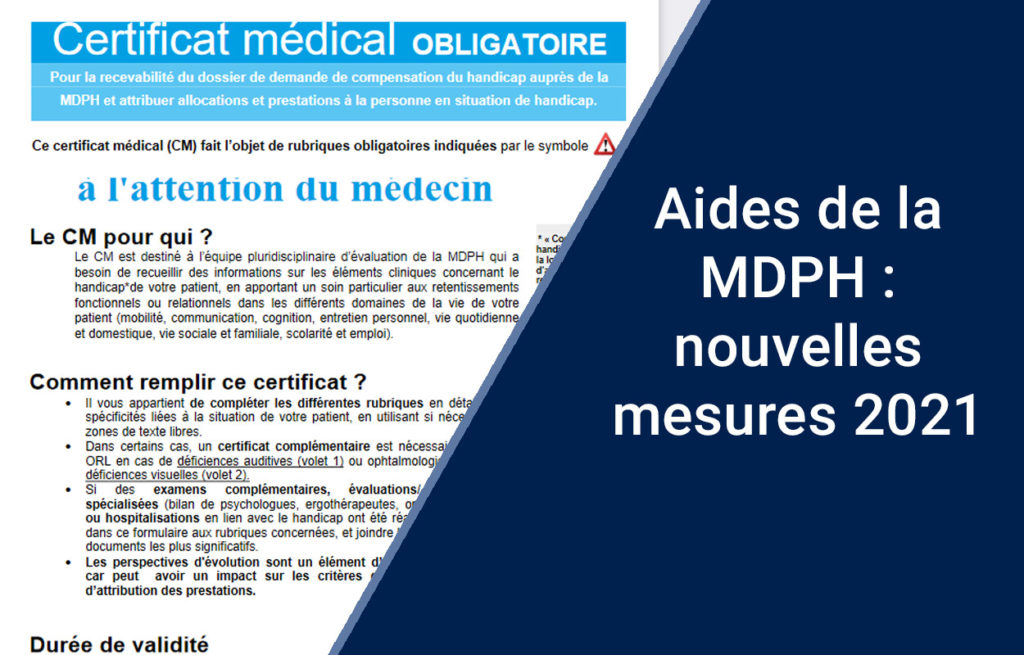 Découvrez les mesures 2021 pour vos procédures MDPH