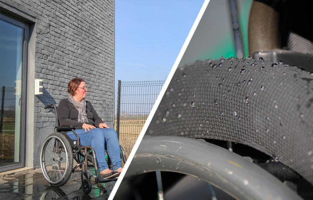 Découvrez les chaussettes imperméables pour roues de fauteuil roulant