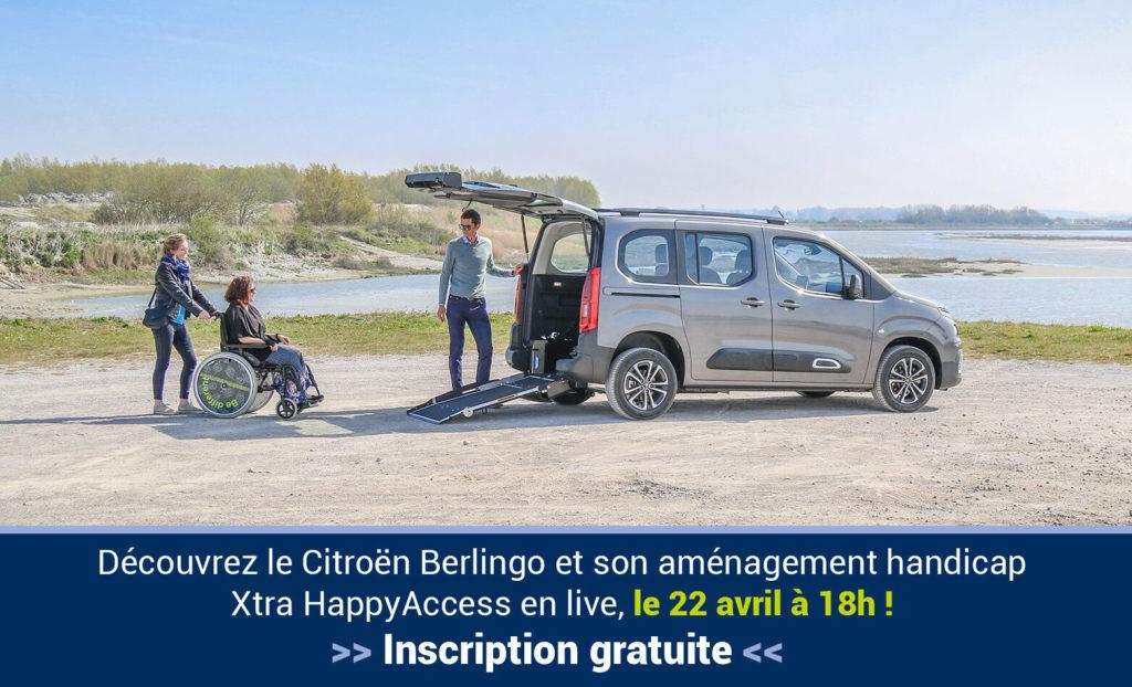 Découvrez le Berlingo Xtra HappyAccess en live !