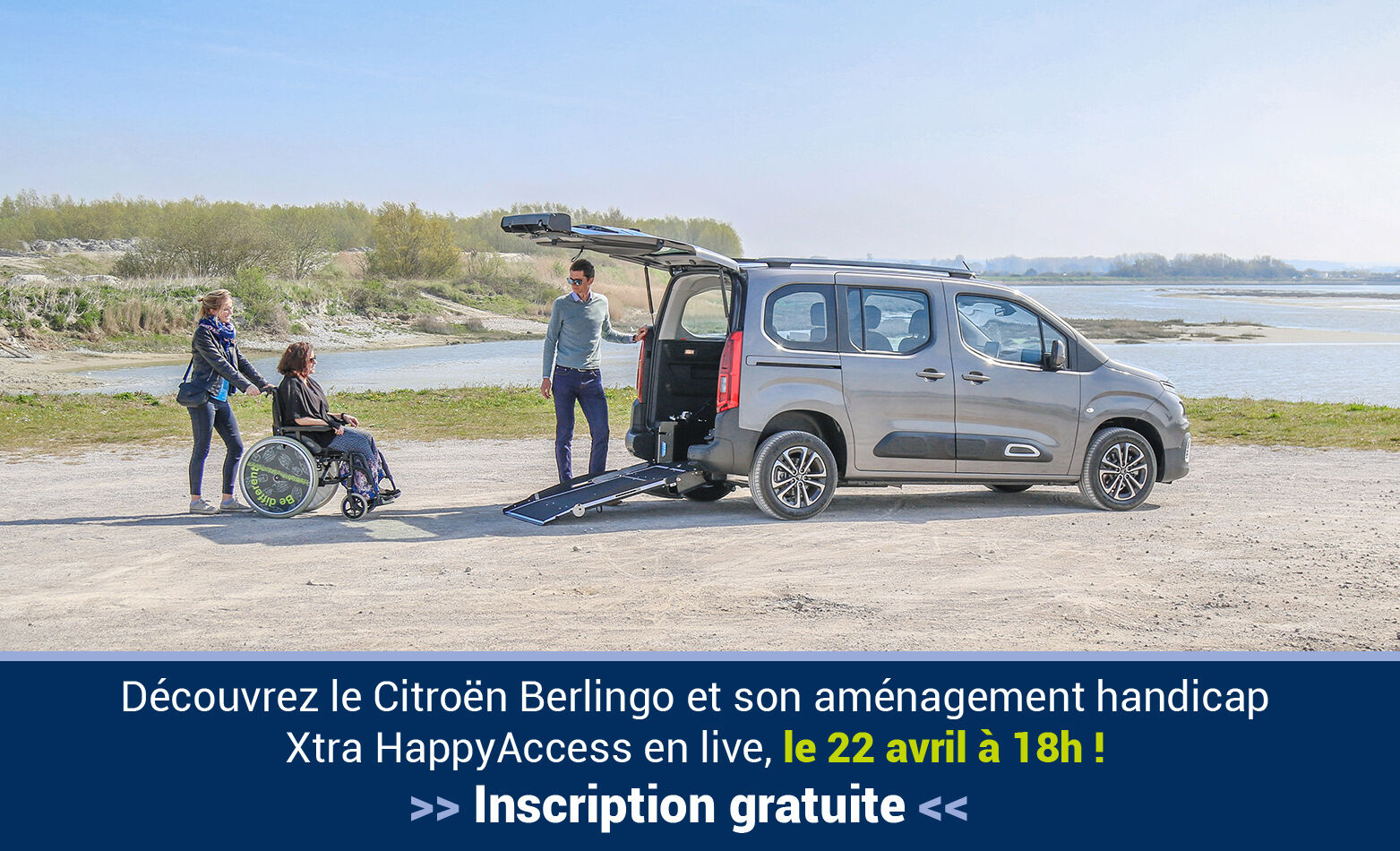 Handynamic Vous Présente Son Citroën Berlingo Xtra HappyAccess… En Live !