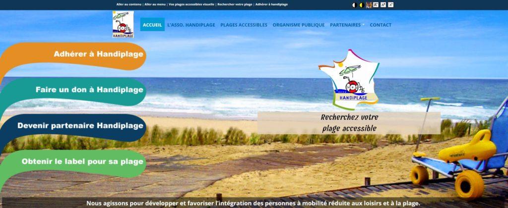 Les plages accessibles en france avec Handiplage