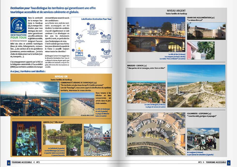 Le magazine du label Tourisme & Handicap regorge d'informations pratiques pour organiser vos vacances adaptées