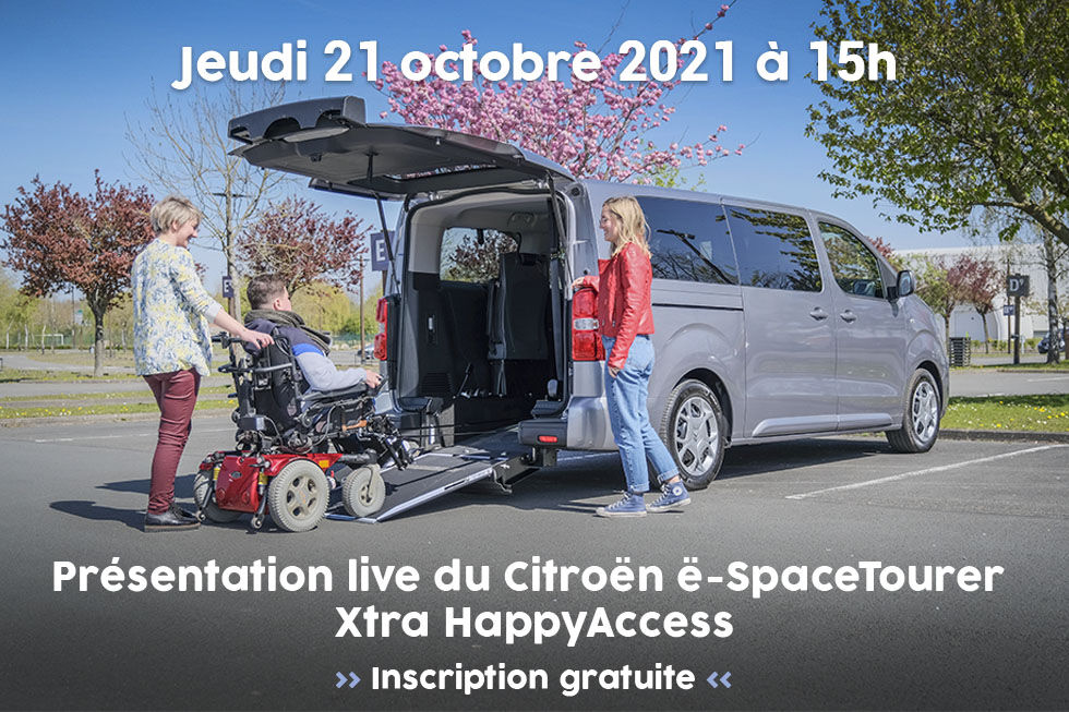 Handynamic Vous Présente Son Citroën ë-SpaceTourer Xtra HappyAccess… En Live !